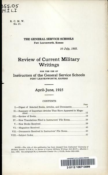 Download Military Review Book