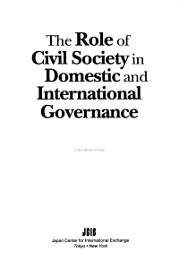 The Role of Civil Society in Domestic and International Governance  The PDF