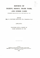 Reports of patent  design  and trade mark cases PDF