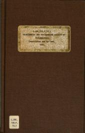 Constitution and By-laws of the Numismatic and Antiquarian Society of Philadelphia: With List of Members