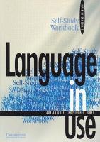 Language in Use Upper intermediate Self study Workbook PDF