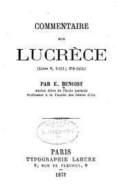 Commentaire sur Lucrèce: (livre V, 1-111; 678-1455)