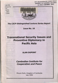 Transnational Security Issues and Preventive Diplomacy in Pacific Asia PDF