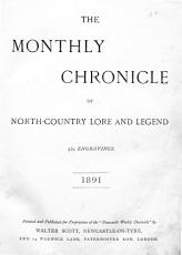 Monthly Chronicle of North country Lore and Legend PDF