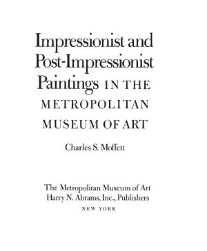 Impressionist and Post impressionist Paintings in the Metropolitan Museum of Art PDF