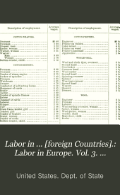 Labor in Europe. Vol. 3. Labor in America, Asia, Africa, Australasia, and Polynesia