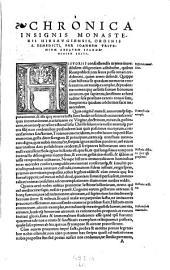 Chronicon, monasterii Hirsaugiensis, ordinis S. Benedicti: Volume 2