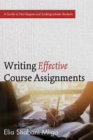 Writing Effective Course Assignments PDF