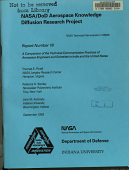 Nasa Dod Aerospace Knowledge Diffusion Research Project Report 18 A Comparison Of The Technical Communication Practices Of Aerospace Engineers And Scientists In India And The United States