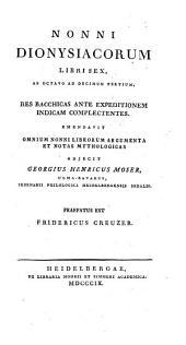 Nonni Dionysiacorum libri sex