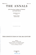 The Constitution in the 20th Century