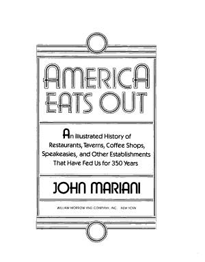 America Eats Out PDF