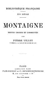 Montaigne: textes choisis et commentés