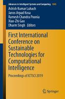 First International Conference on Sustainable Technologies for Computational Intelligence PDF