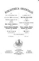 Download Bibliotheca Orientalis Book