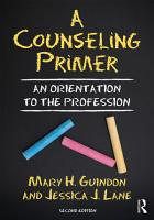 A Counseling Primer PDF