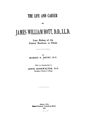 The Life and Career of James William Hott
