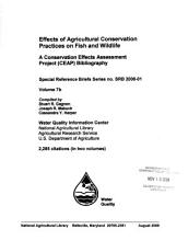 Effects of Agricultural Conservation Practices on Fish and Wildlife PDF