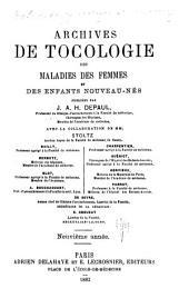 Archives de Gynécologie Et de Tocologie. ...: Première Annéetome XXIII, [1874-1896].