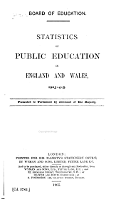 Statistics of Public Education in England and Wales