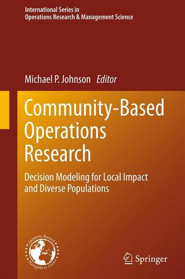 Community Based Operations Research PDF