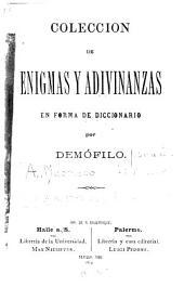 Coleccion de enigmas y adivinanzas en forma de diccionario