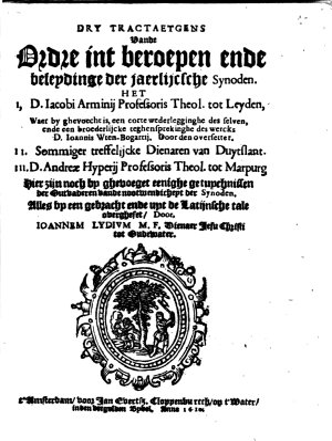 Dry tractaetgens vande Ordre int beroepen ende beleydinge der jaerlijcsche Synoden PDF