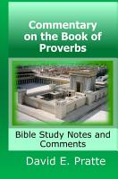Commentary on the Book of Proverbs  Bible Study Notes and Comments PDF