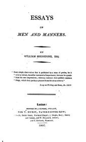 Essays on Men and Manners