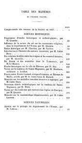 Bulletin de la Société des sciences historiques et naturelles de l'Yonne: Volume1