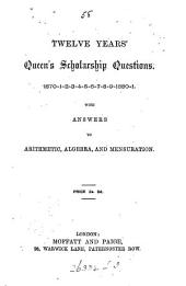 Twelve years' Queen's scholarship questions