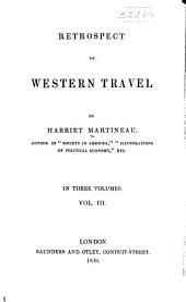 Retrospect of western travel: Volume 3