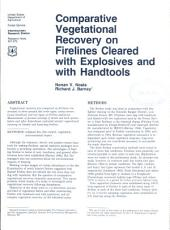 Comparative vegetational recovery on firelines cleared with explosives and with handtools