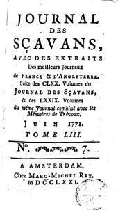 Journal des sçavans, avec des extraits des meilleurs journaux de France et d'Angleterre: Volume53
