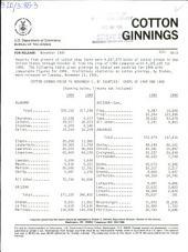 Cotton ginnings