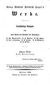 Werke: Vorlesungen über die Aesthetik ; 1, Band 10,Ausgabe 1