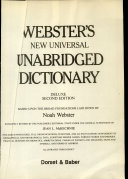 Webster s New Universal Unabridged Dictionary PDF