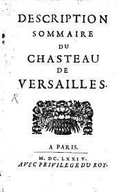 Description Sommaire du Chasteau de Versailles