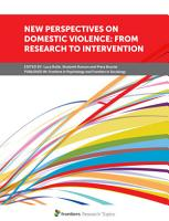 New Perspectives on Domestic Violence  From Research to Intervention PDF