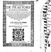 Disp. de praetoriis stipulationibus
