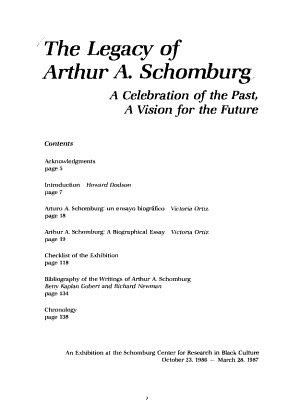 The Legacy of Arthur A  Schomburg PDF