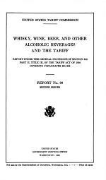 Whisky, Wine, Beer, and Other Alcoholic Beverages and the Tariff