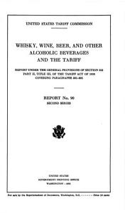 Whisky  Wine  Beer  and Other Alcoholic Beverages and the Tariff