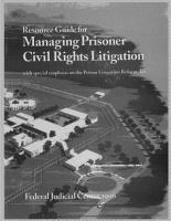 Resource Guide for Managing Prisoner Civil Rights Litigation PDF