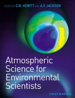 Atmospheric Science for Environmental Scientists PDF
