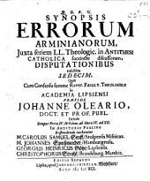 Synopsis errorum Arminianorum
