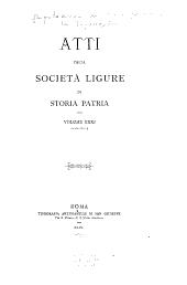 Atti della Società ligure di storia patria: Volume 31,Parte 1