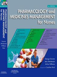 Pharmacology And Medicines Management For Nurses E Book Book PDF