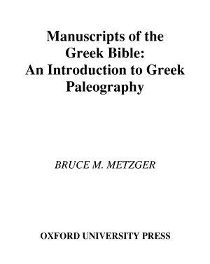 Manuscripts of the Greek Bible