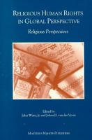 Religious Human Rights in Global Perspective PDF